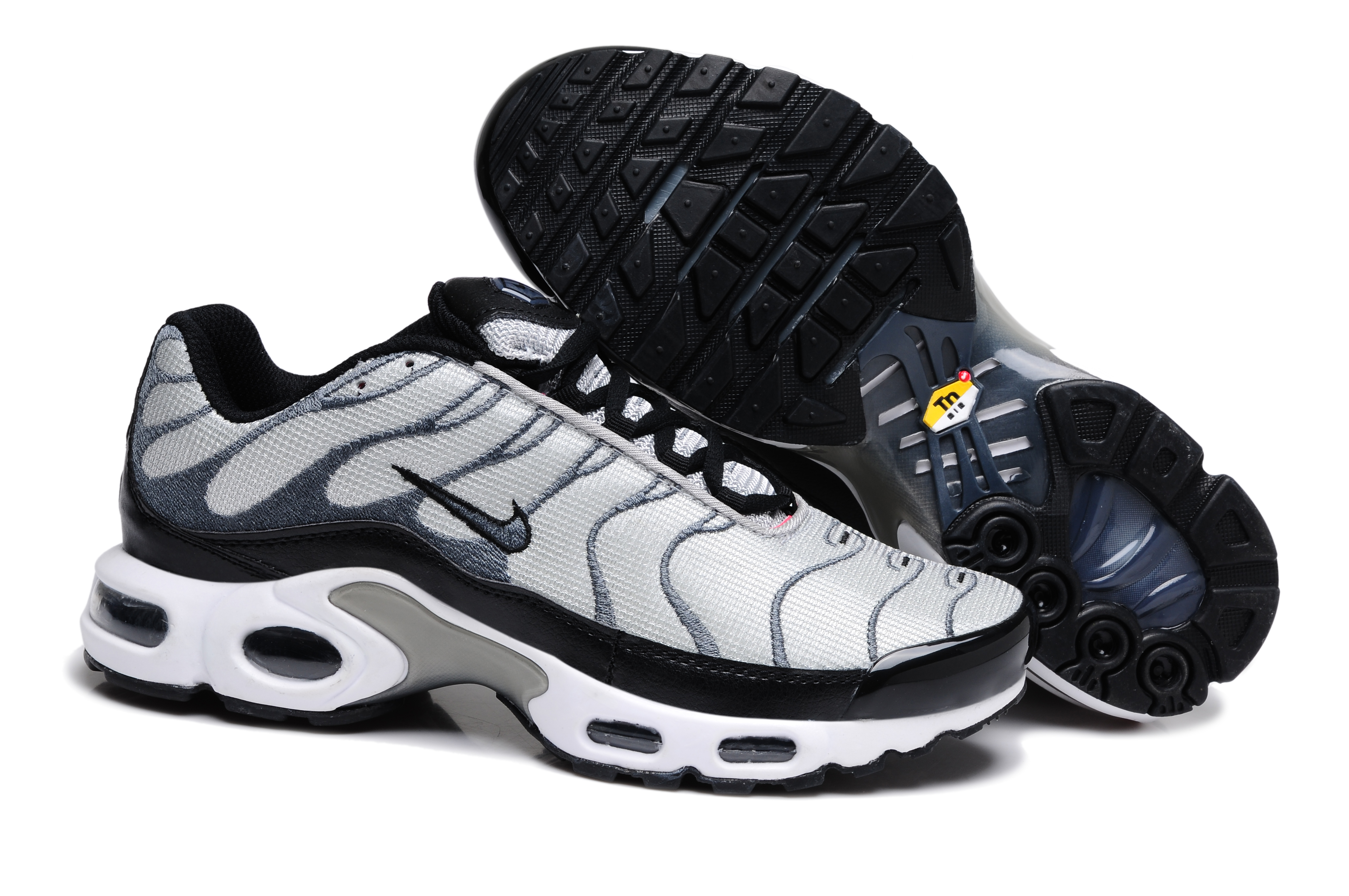 Chaussures de Nike Air Max Tn Requin Homme Gris et Or (Chaussure Homme Tn)